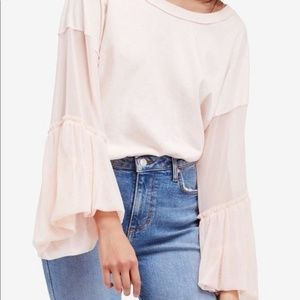 Free people Inside Out Bell Sleeve Top